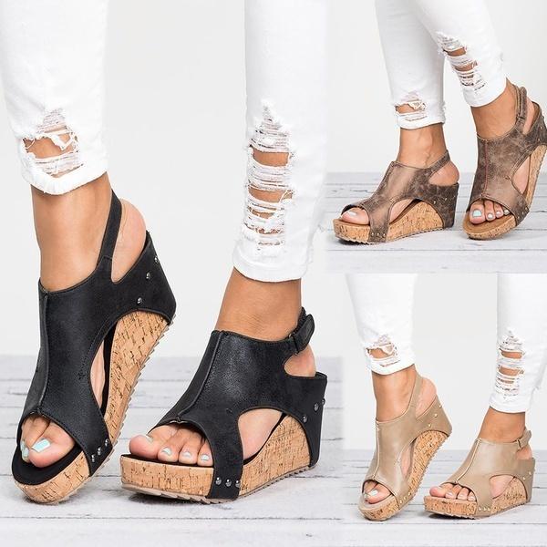 Compre Casuales Sandalias Las Mujeres De Verano Cuña Zapatos rwrPq0fBx