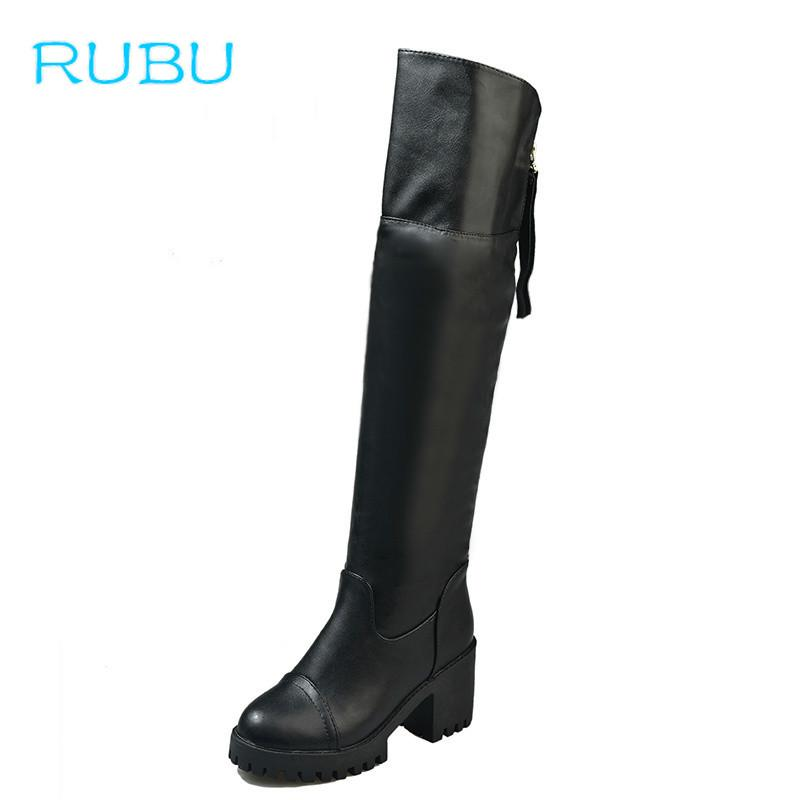 87c2f8d8a6a3 2018 New Women Thigh High Boots Fashion Over The Knee Boots Sexy Thin  Square Heel Boot Platform Shoes Woman High Heel Boots White Boots From  Shoes5555