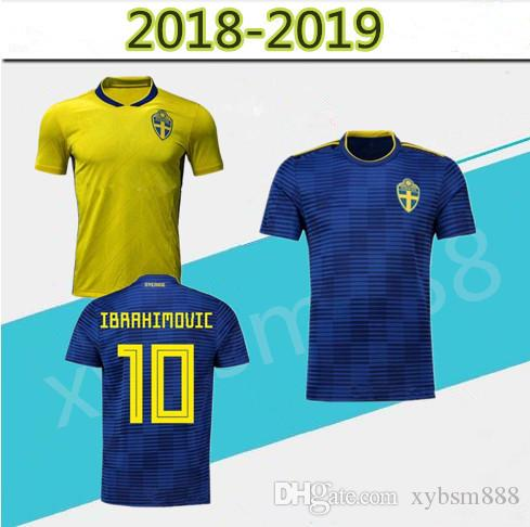 b81fb99bd24 2018 World Cup Sweden National Team Soccer Jersey Sweden Home Yellow ...