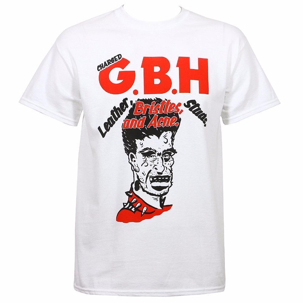 ef227c1600782 Acheter Charged Gbh Hommes Soies En Cuir Clous Et Acne T Shirt Imprimé  Blanc Style Tees Style Homme Harajuku Top Fitness Marque Clothi De $24.2 Du  ...