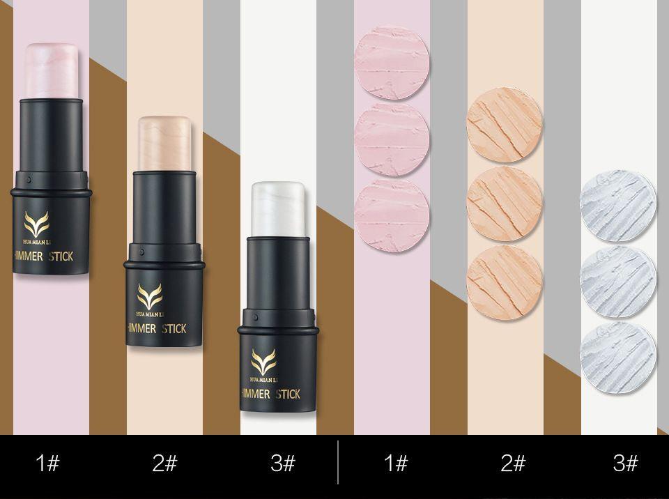 HUAMIANLI Marca i Face Highlighter Foundation Shimmer Evidenziando Crema di Crema Luce Bronzer Concealer Trucco Stick Evidenziatore Asta