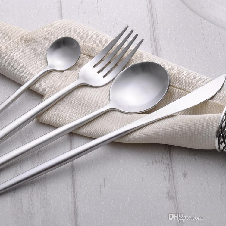 Großhandel 4 Stück Silber Qualität Edelstahl Messer Gabel Party ...