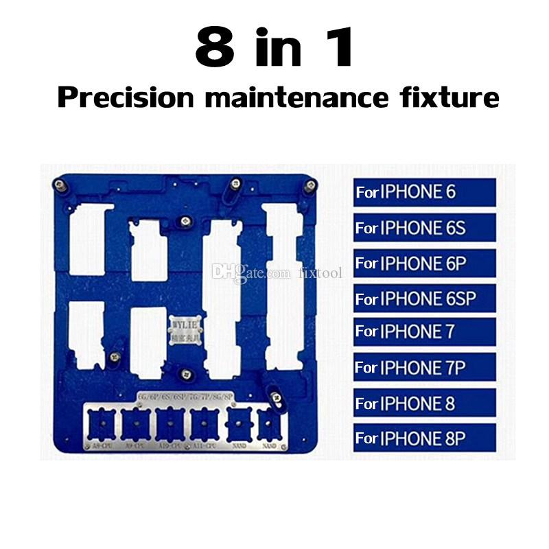 8 in 1 Mobile Phone Motherboard Fixture CPU Maintenance Fixture for iphone 6G 6S 6SP 6P 7G 7P 8G 8P A8 A9 A10 A11