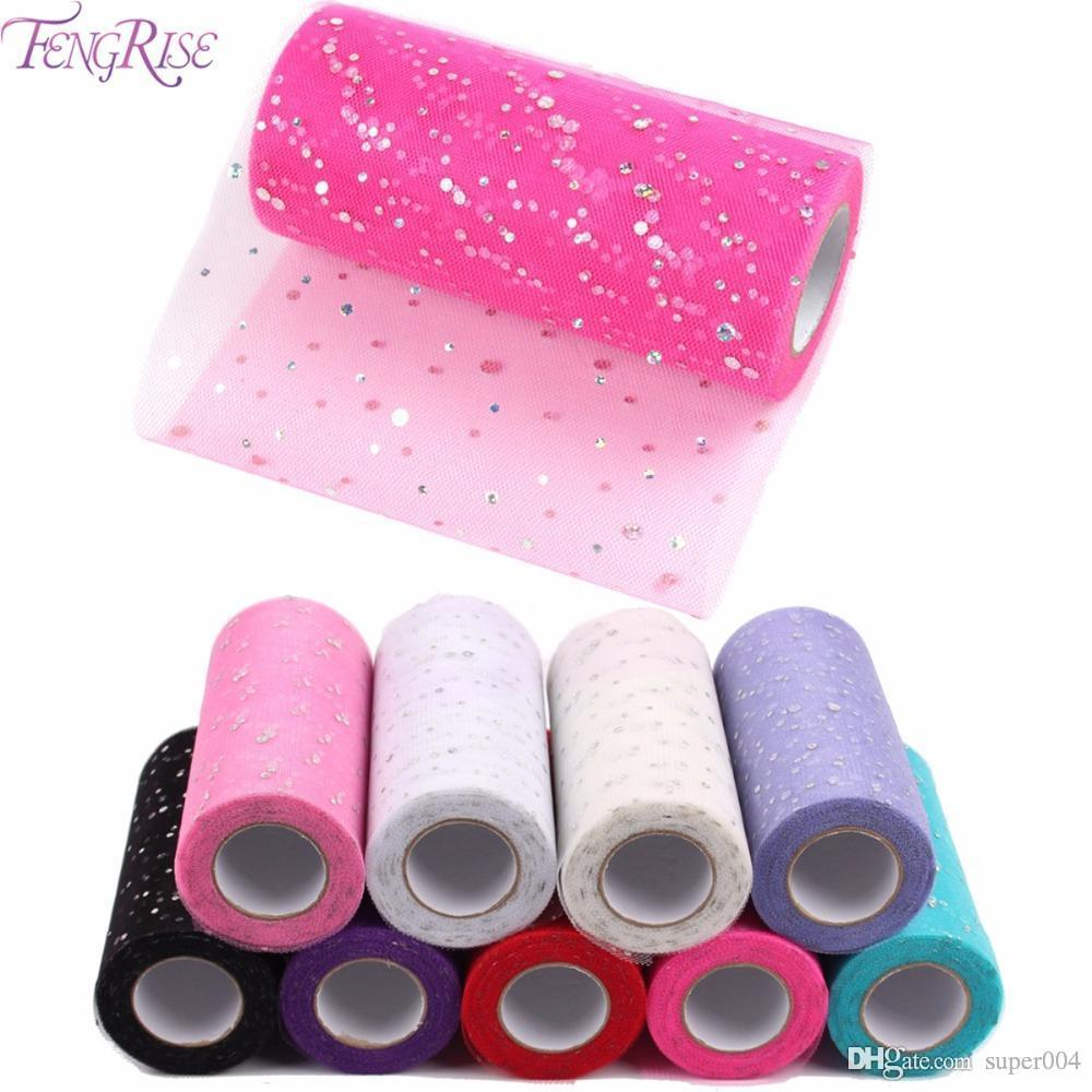 Fabric Patchwork 25 yards Tulle Roll Sewing Accessories Textile Sequin Tutu Crafts Material Cheap Organza Cloth