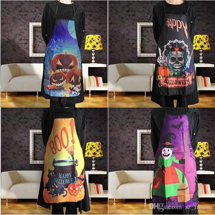 Halloween apron Sexy Men Women Apron Kitchen Cooking Chef Novelty Funny Party for Adult big Kids Christmas Halloween Cosplay