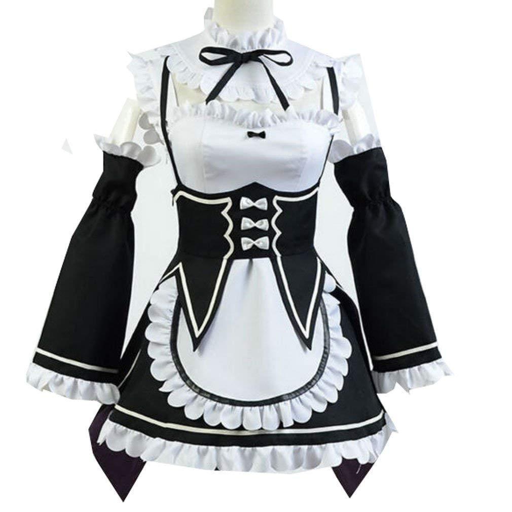 74c5517f78 Acquista Le Donne Ram Rem Cosplay Re Zero Kawaii Sorelle Costume Cameriera  Servo Vestito A $91.25 Dal Szcdhxh | DHgate.Com