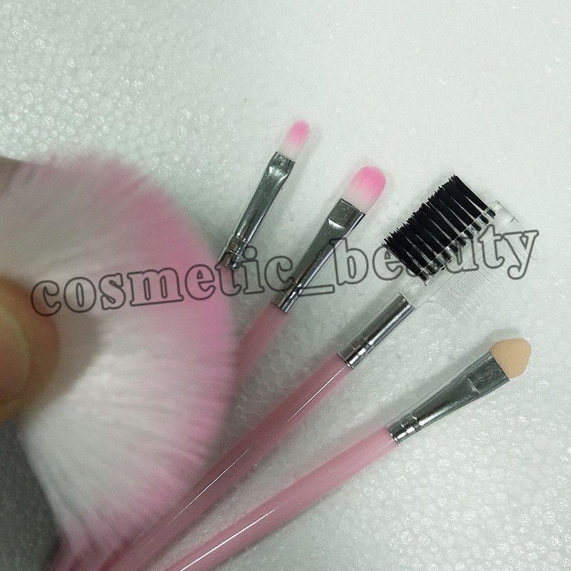 2018 fabrik direkt schönheit make-up pinsel rosa make-up pinsel 5 teile / satz kosmetik pinsel dhl versandkostenfrei + geschenk