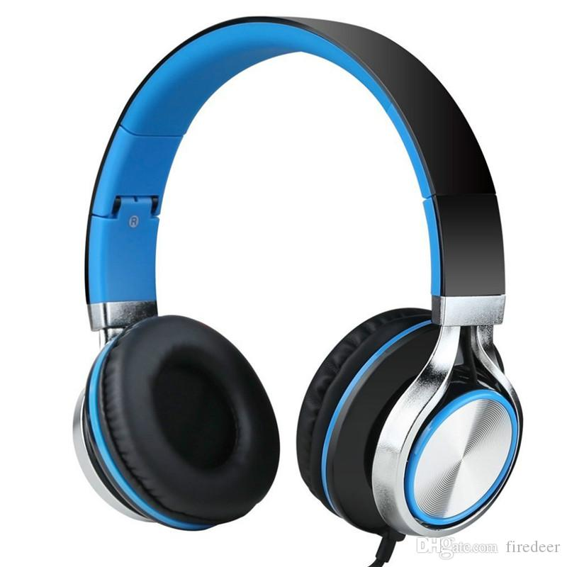 Headphones with mic high quality Stereo Headsets Strong Bass Headphones Mp3 player Laptop Computers Tablet Folding Earphones 3.5mm Jack