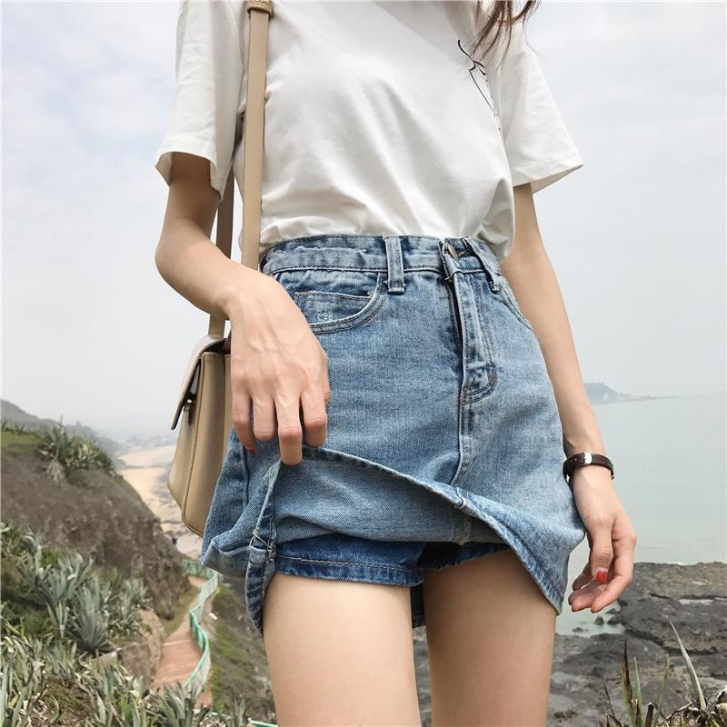 2019 2018 Newest Hot Women S Fashion Pocket Denim A Line Girls