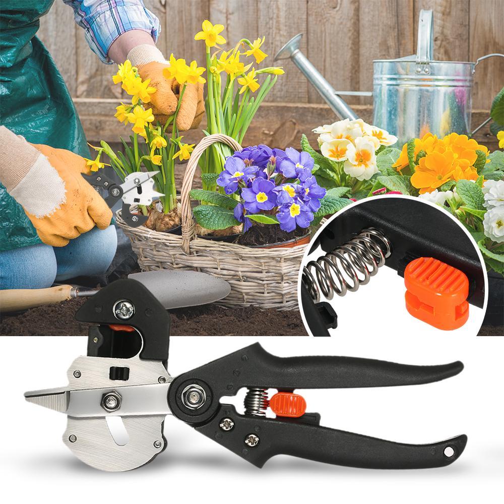 Multitool Sämling Pfropfen Maschine Gartengeräte mit 2 Klingen Baum Pfropfen Werkzeuge Garten Umpflanzen Werkzeug zange Pruner Cutter