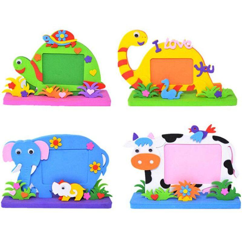 Cartoon Animals Diy Handmade Eva Photo Frame Kids Handcrafts Picture