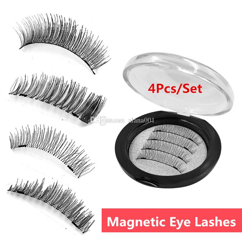 ceef4f3e617 2018 New Double Magnetic Eye Lashes 18 Models Synthetic Reusable Magnets  Eyelashes Full Eye False Eyelashes 001/018 Semi Permanent Eyelash Extensions  ...