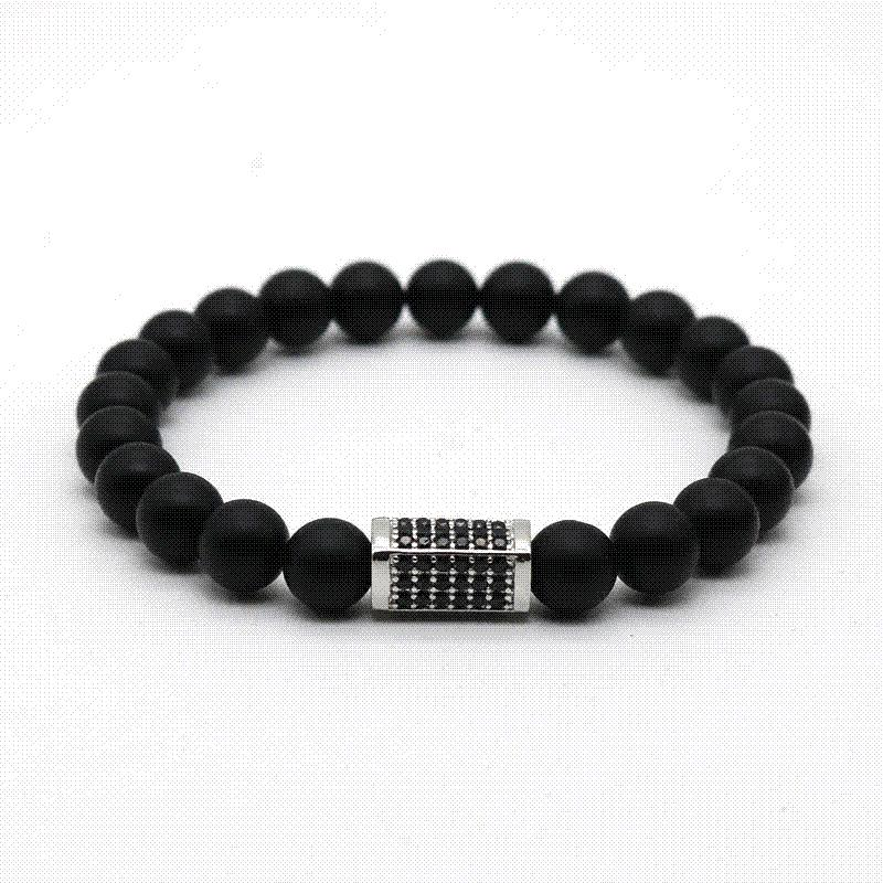 onyx sterling men bracelets mens black for back stretch and handmade bracelet noir silver s buy