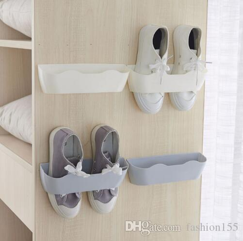 dc88f41838 Creative integrated shoe rack paste wall-mounted shoe rack combination shoe  care DIY stereo wall surface storage rack