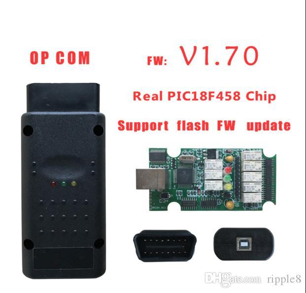 OP - com кабель OBD2 с чипом PIC18F458 лучшее качество OP COM V1.7 Последняя Версия Scanner