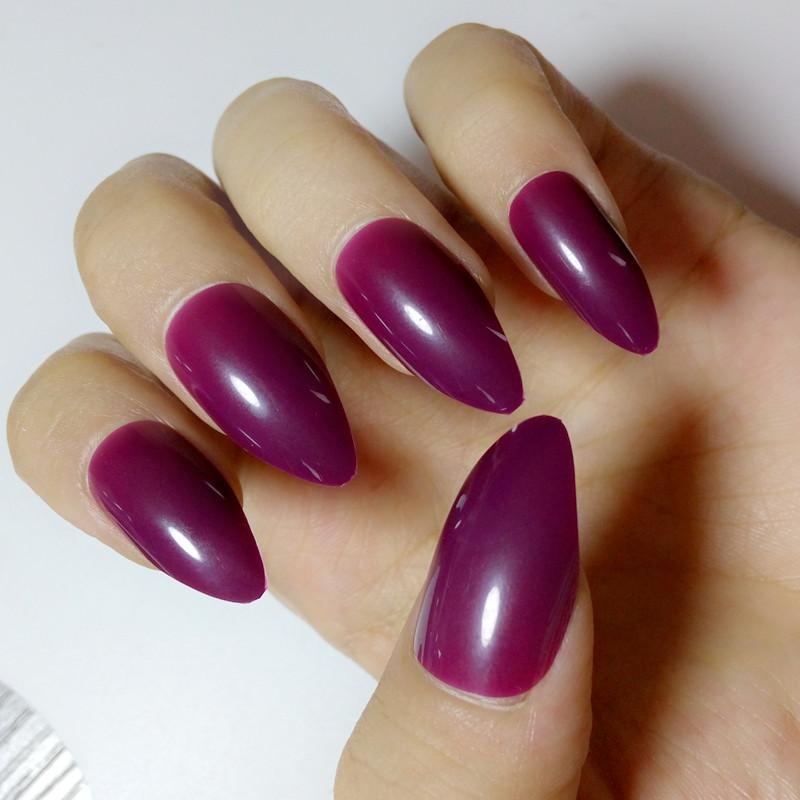 Pretty Grape Purple Acrylic Nails Pointed False Diy Fake Tip Salon Product Silk Broadway From Xiatian3