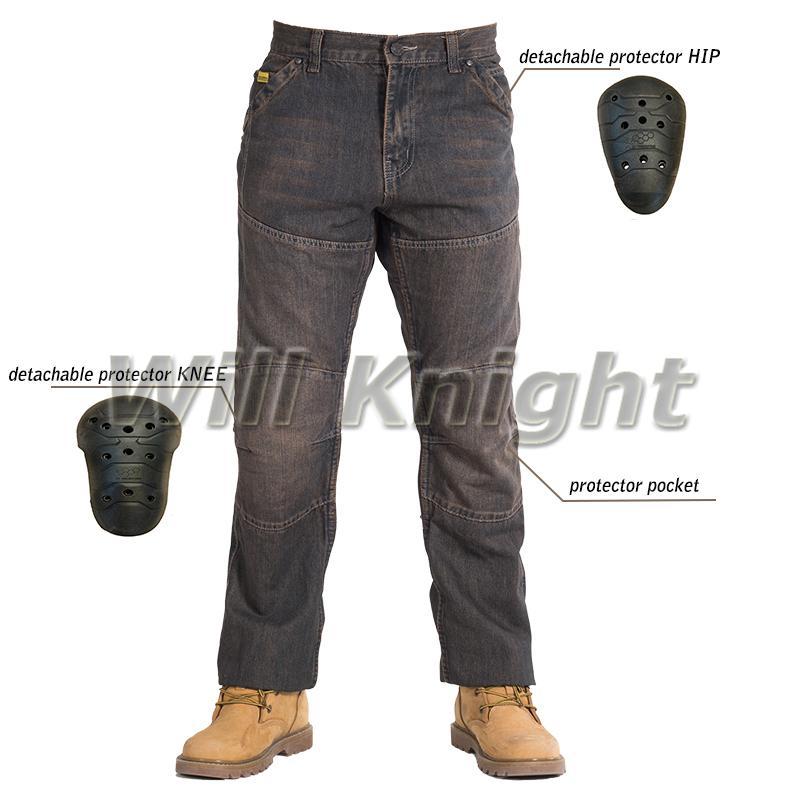 9c2df7d01d Compre Moto Jeans Moto Gp Pantalones Protectores Racing Pantalones  Blindados Con Almohadillas Negro A  136.56 Del Cujuflo