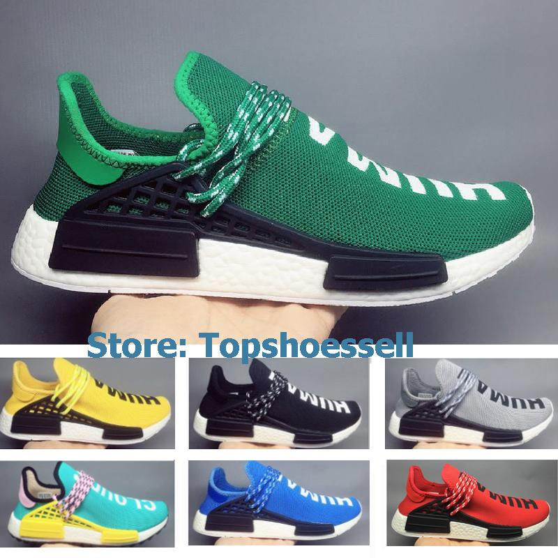 f1294b6f204f1 NMD Human Race Pharrell Williams Ultra Hu Trail NERD Men Womens Running  Shoes Boots Noble Ink Core Black Red Sports Designer Sneakers 36 45 Shoe  Shopping ...