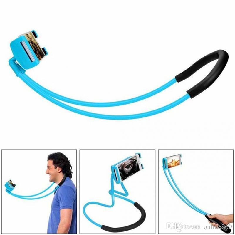 Lazy Bracket Universal 360 Degree Rotation Flexible Mobile Phone Neck Hanging Stand Holder For iPhone Samsung Android