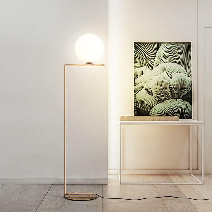 Modern Led Iron LOFT Glass Golden Floor Lamps Standing Lamp Living Room  Floor Lights Decorative Lamp Kitchen Fixtures Luminaire
