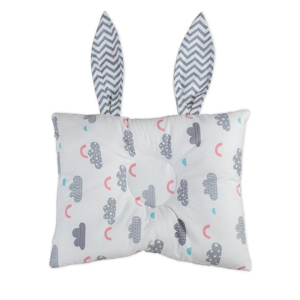 Baby Rabbit Ear Shaped Head Shaping Pillow Newborn Infant Neck Protection Prevent Flat Head Toddler Bedding