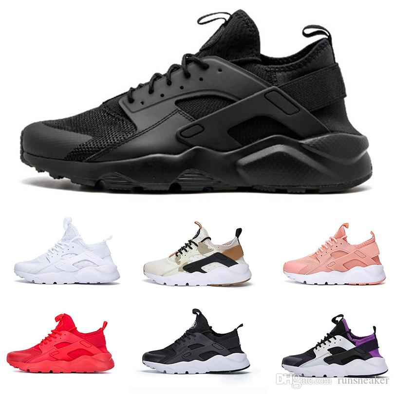 60c4cef60b0ed Air Huarache 4.0 Ultra Running Shoes Mens Women Triple White Black Red  Huaraches Designer Sneakers Sports Classic Shoes Maxes Size 36 46 Sports  Shorts Shoe ...