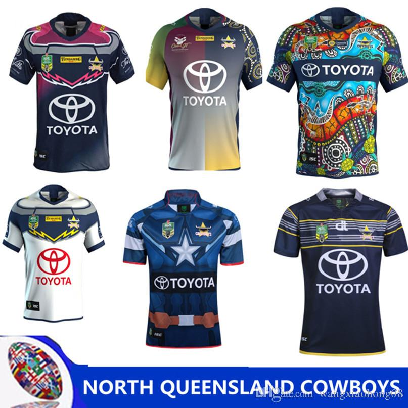 2019 2018 NRL JERSEYS QUEENSLAND COWBOYS Top Quality North Queensland  Cowboys 2017 2018 Rugby Jersey Short Sleeve Men Shirts Size S 3XL From  Wangxiaohong08 9f2d23818