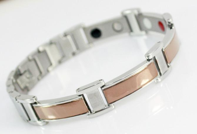 583dd80aa3cf 2019 Unique Gold Stainless Steel Men Therapy Balance Magnet Energy Titanium  Germanium And Tourmaline Bracelet Jewelry Health Benefits From Sihuoguo