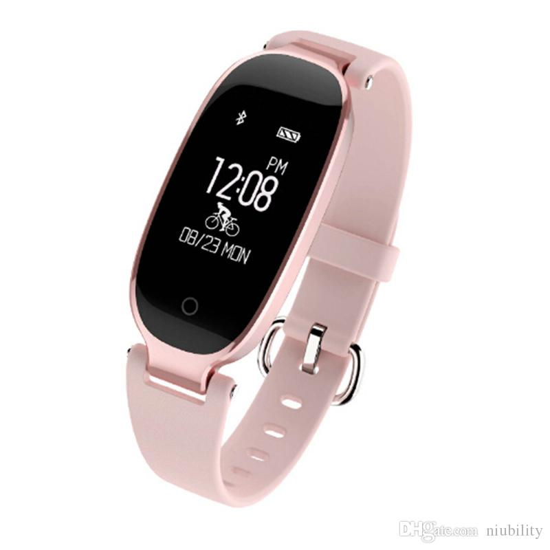 S3 Smart Watch Fashion Sport Bluetooth Smart Wristband Phone Smart Clock Heart Rate Monitor Smartwatch For Women Girl by niubility