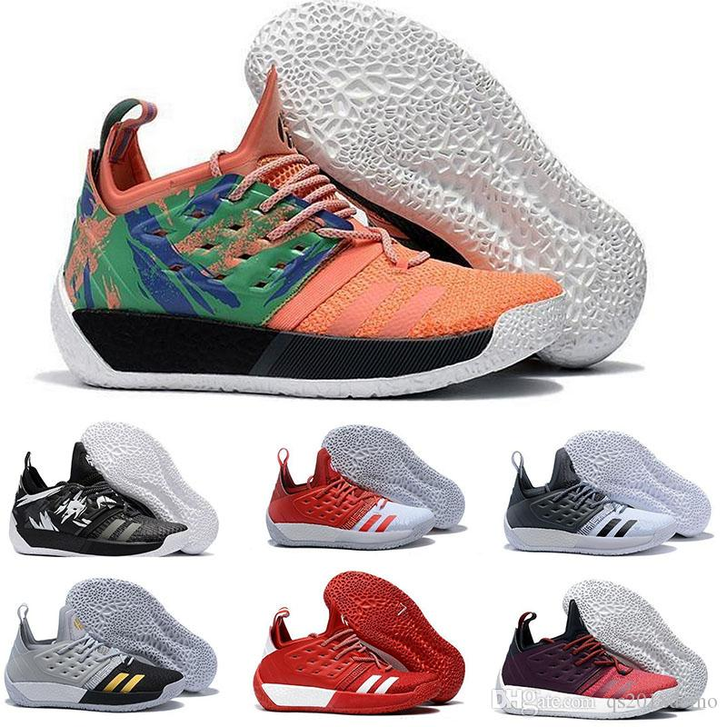 c4332ab0111b 2018 James Harden Vol.2 BHM Orange Green Basketball Shoes Mens Harden Vol 2  Athletic Outdoor Sports Training Sneakers Size 40 46 Girls Basketball Shoes  Best ...