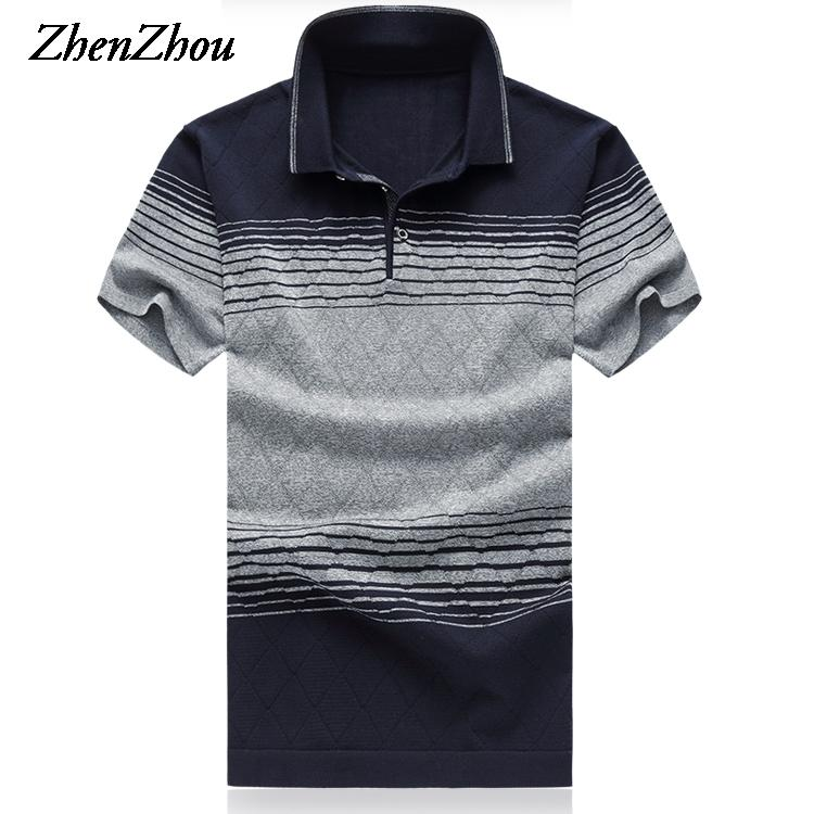 0eaffdef552a 2019 Natural Silk Summer Mens Polo Shirts Striped Short Sleeve Polo Shirt  Men Polos Shirt For Men Polos Para Hombre Designer Polo Shirts From  Netecool
