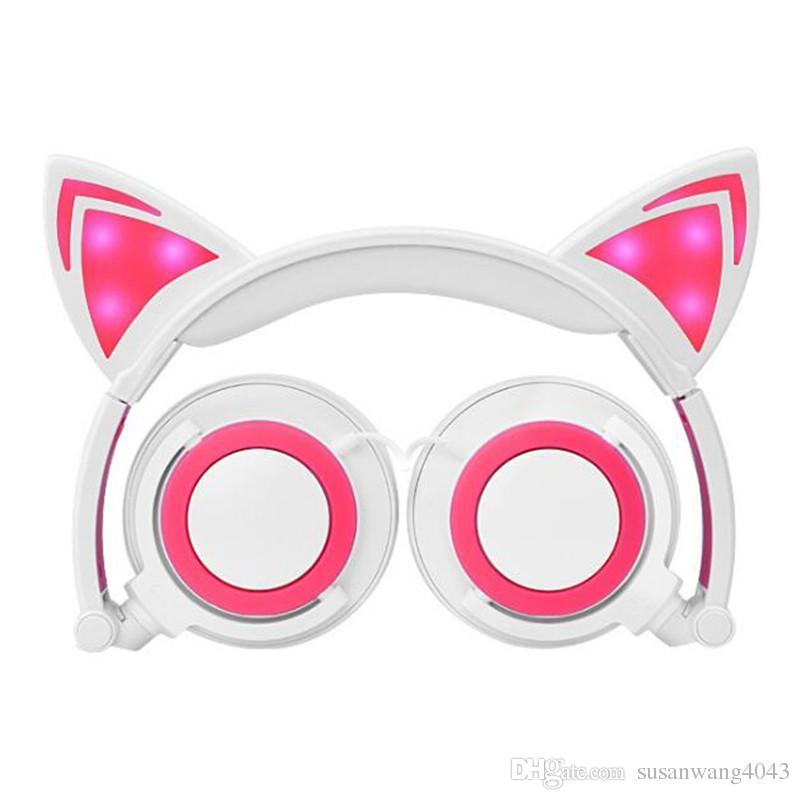 Acquista Cosplay Cat Ear Pieghevole Lampeggiante Glowing Cuffie Bambini  Gaming Cuffia Ha Condotto La Luce Sopra Su Auricolari Pc Laptop Computer  Usz167 A ... e0559da018c5