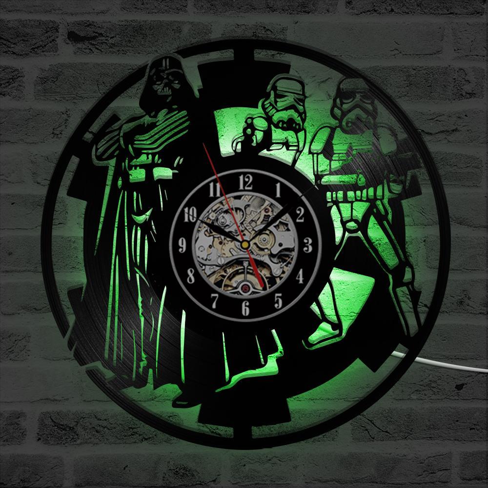 Decorazione a 12 pollici della lampada di notte dell'orologio di parete della registrazione del vinile del LED che appende Dropship all'ingrosso all'ingrosso di IR dell'orologio creativo di IR Trasporto libero