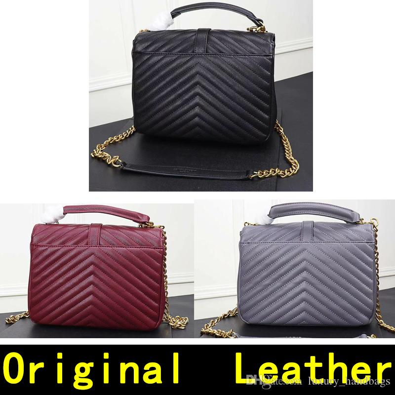 a719da12f Saint Original Leather Gold Chain Golden Lock Pendant Genuine Leather High  Quality Luxury Designer Handbags Women Shoulder Bags 1607 1 Satchel Handbags  ...