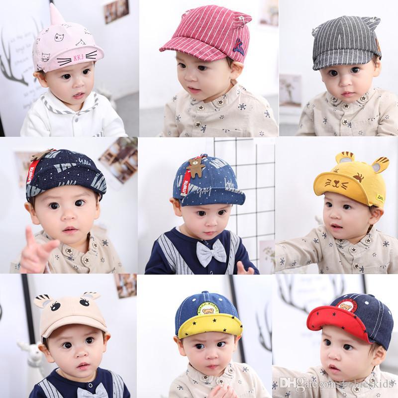 Yenidoğan Bebek Sevimli Moda Şapka Bahar ve Yaz Ayarlanabilir Beyzbol Şapkası Çocuk Kadın Bebek Güzel Yumuşak Saçak Güneş Şapka