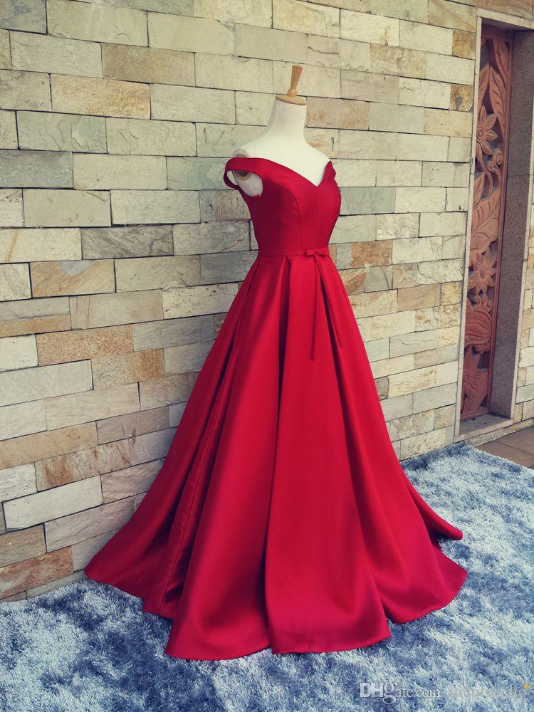 Custom Made Satin Evening Dress Dark Navy,Red,Light Blue Top Quality Long prom Dress Lace-up/Zipper Back Sweep train Satin Formal Gowns