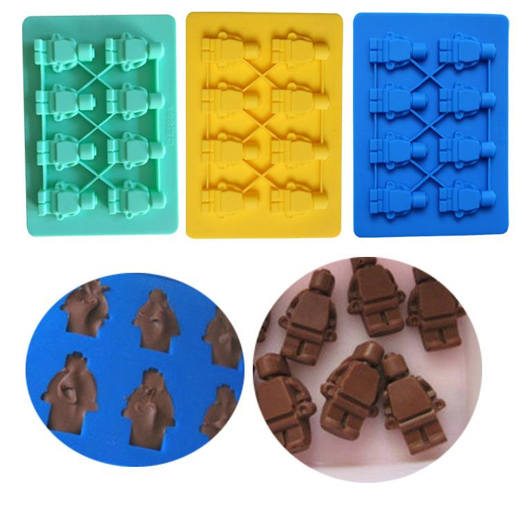 Robot Silica Gel Chocolates Mould Box Mold Ice Cube baking supplies macarons silicone cake decorating cooks tools pizza