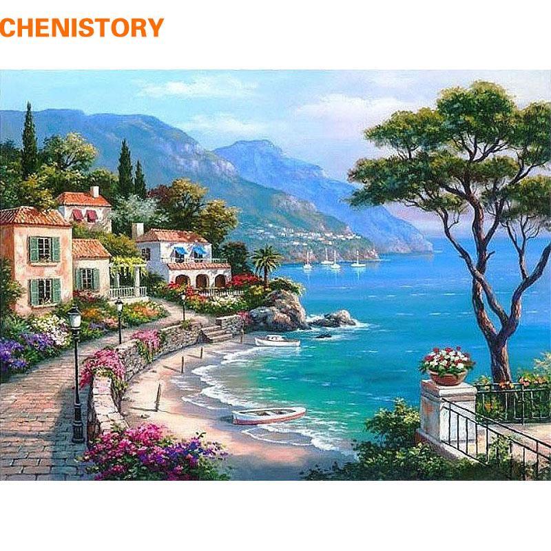 Satın Al Chenistory Akdeniz Deniz Manzara Diy Boyama By Numbers