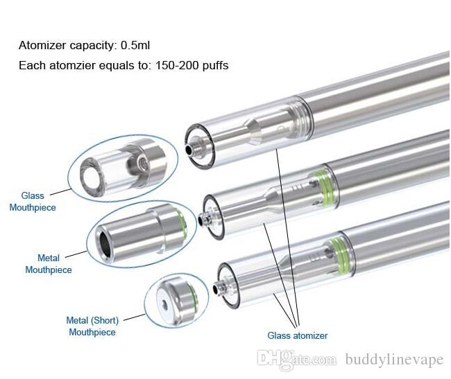 Buddyline Hot 0.3ml .5ml disposable e cigarette vape pen BUD D1 vaporizer with glass ceramic heating element