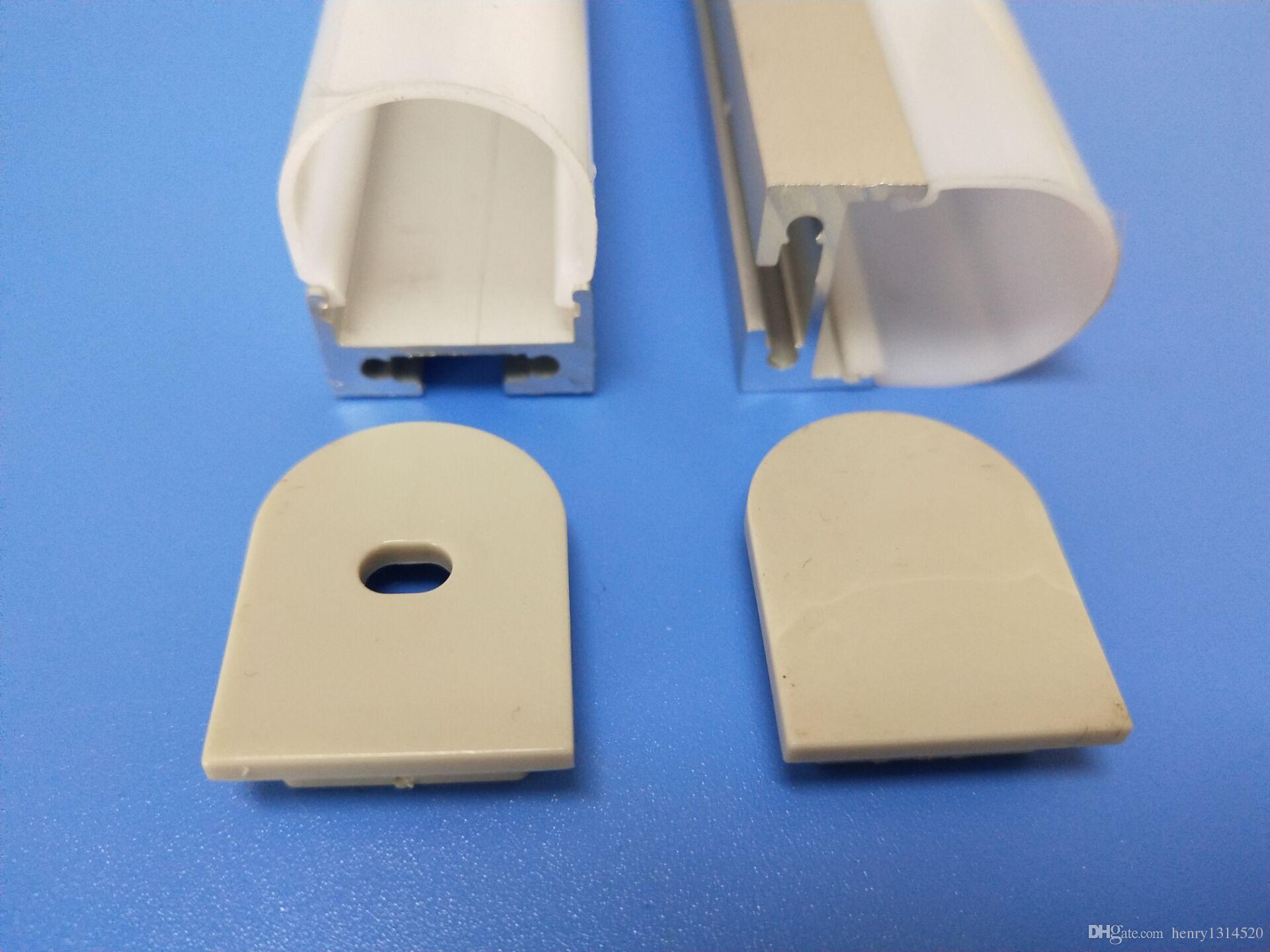 Il profilo di alluminio dell'estrusione principale vendita calda di trasporto libero la striscia flessibile 2835/5050/5630 2m / pc 60m /