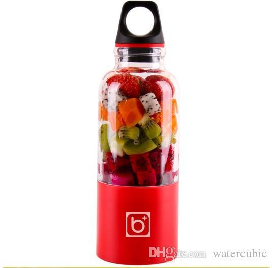 USB Rechargeable Juicer Cup, Fruit Mixing Machine, Portable Personal Size Eletric Rechargeable Mixer, Blender,Water Bottle 500ml