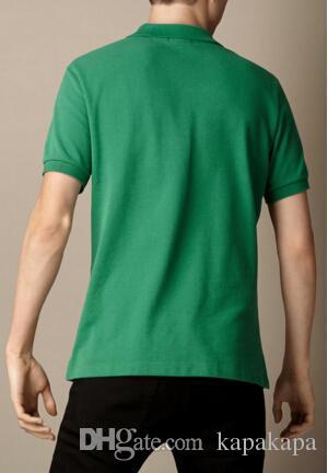 Compre Mais Recente Camisa Londres Brit Camisa Polo Homens Algodão  Inglaterra Mens De Manga Curta Sólida Camisas Polo Esportes Golfe Tênis  Polos Preto De ... eda6e54ef7cad
