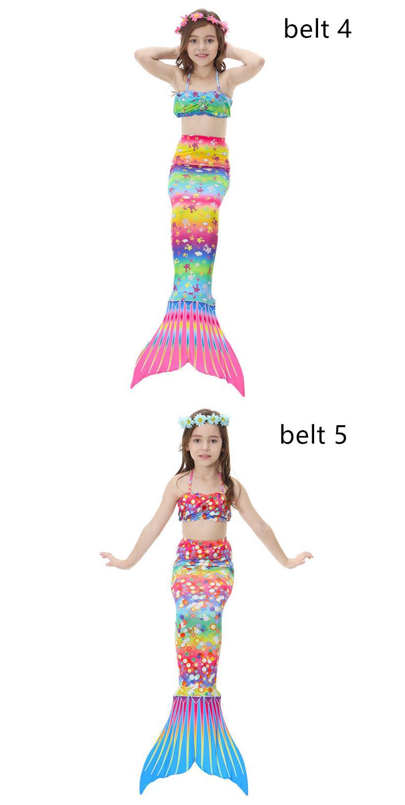 Meninas de Natação Sereia Cauda Crianças Maiô Para Meninas Two-piece Vestido de Fato De Banho Terno Do Esporte Criança Biquíni Maiô