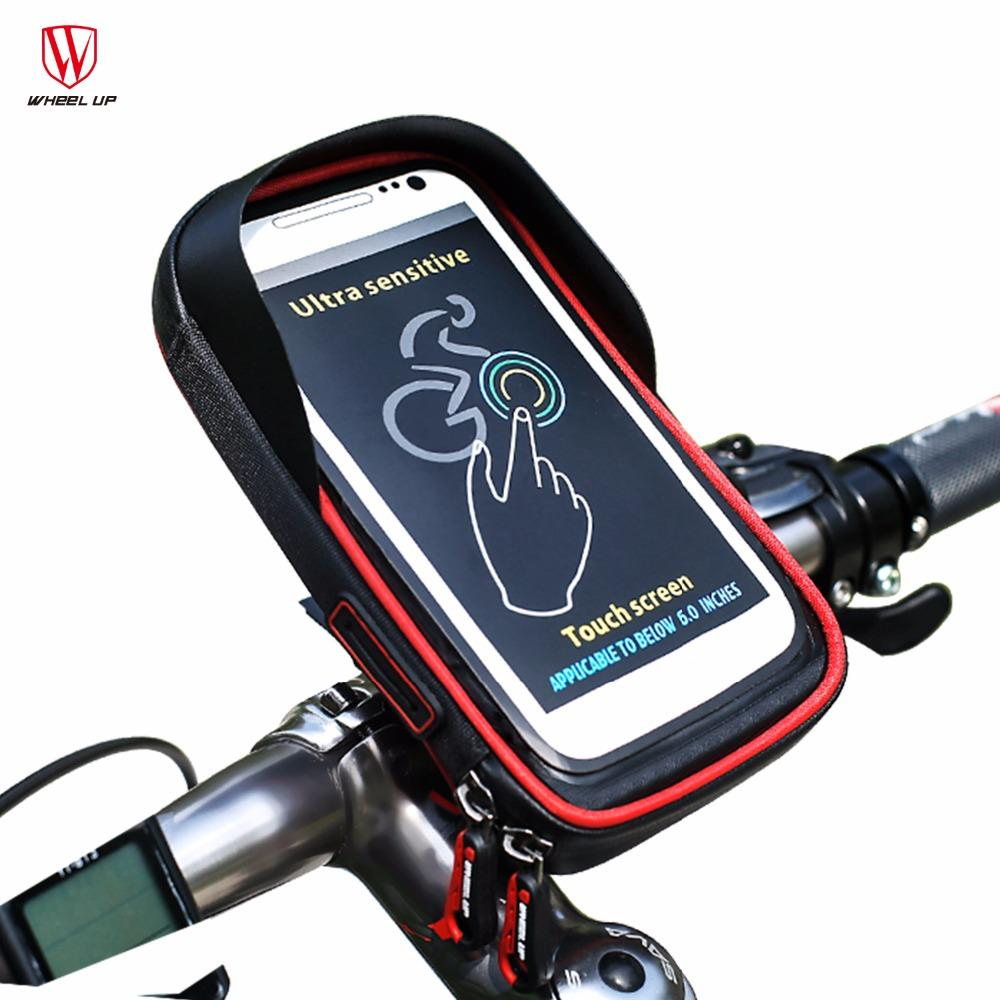 48db9aedfb3 WHEEL UP Bicycle Bag Phone Touch Screen Cell Phone Holder Bicycle Handlebar  Bags MTB Bike Frame Pouch Bag Waterproof For GPS Mtb Rucksack Cycling  Backpacks ...