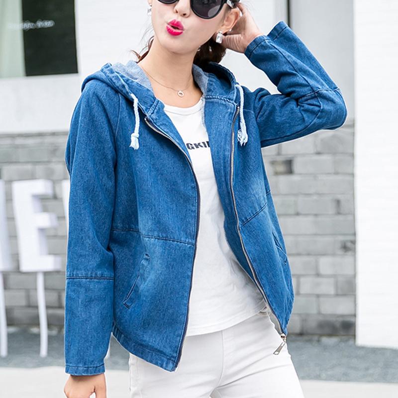 Jeans Capucha Con Denim Tops Compre Chaquetas Mujeres Cortas 2018 pwnEqxY c7f17ffaf2db9