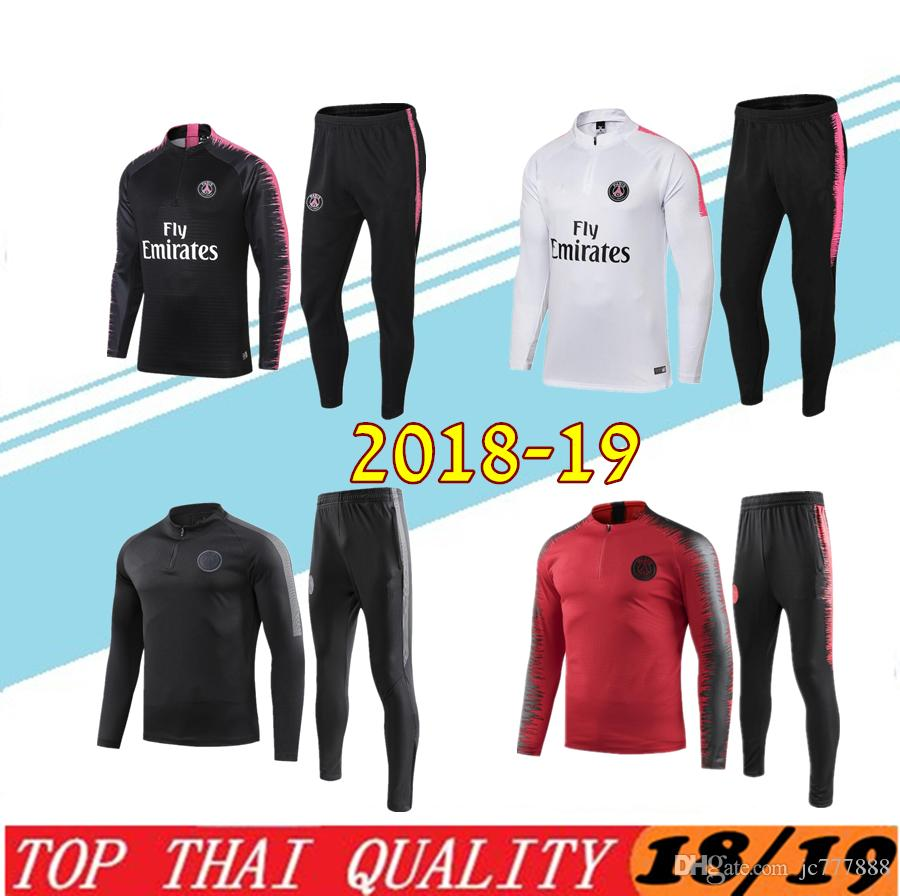 adbc79014 2019 Psg Adult Soccer Tracksuit Set 2018 19 Paris Tracksuits 18 19 MBAPPE  CAVANI LUCAS HOME Football Jacket Kit Training Suit Football Chándal From  Jc777888 ...