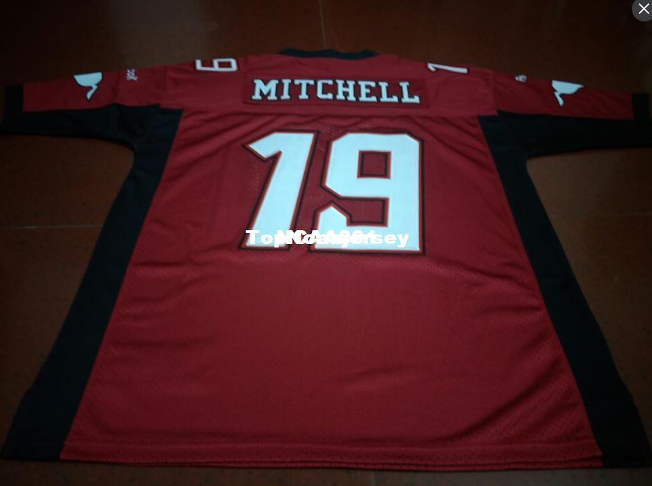 c6fb5ecc0e Cheap Cheap Uomo Calgary Stampeders # 19 Bo Levi Mitchell Red College  Jersey o personalizzato qualsiasi nome o numero maglia
