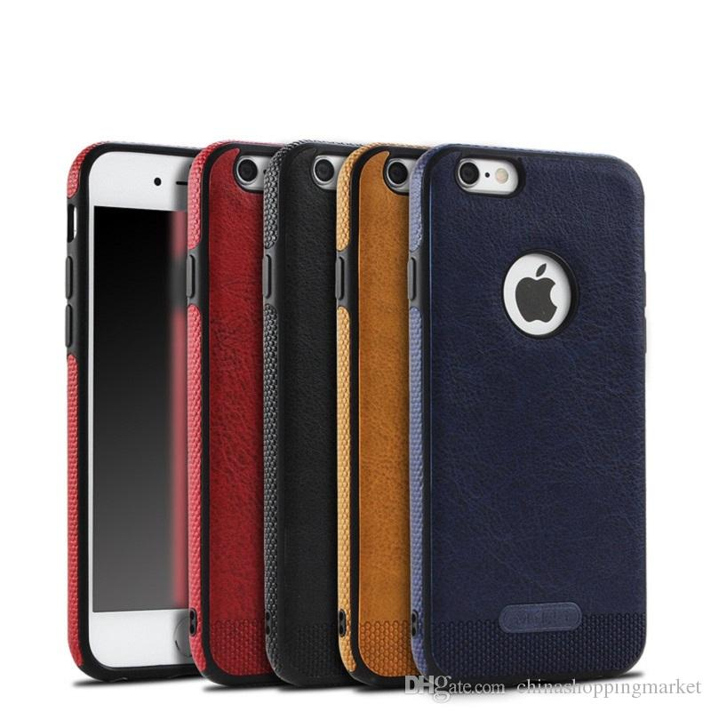 Soft TPU Business Leather Case Shell Full Protection Cases For iPhone X Xr Xs Max 8 7 6 6S Plus Samsung S8 S9 Plus Note 8 9 S7 edge