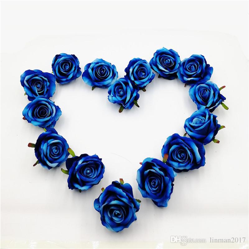 30 Diy Gül ipek kumaş ipek kumaş Çiçekler Yapay Çiçekler Kafaları Renkli Düğün Ev Partisi dekorasyon için