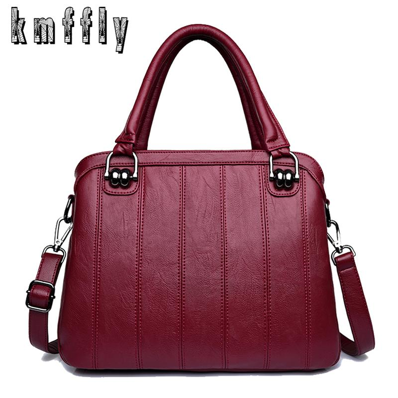 eb06615758f1 2018 High Quality Women Leather Handbags Luxury Lady Bags Designer Retro  Female Messenger Bag Big Tote Women Casual Shoulder Bag Cute Bags Purses  For Women ...